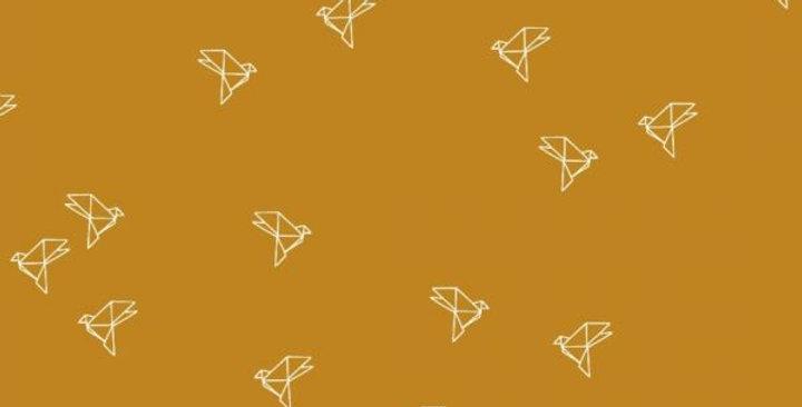 Origami oiseaux Moutarde