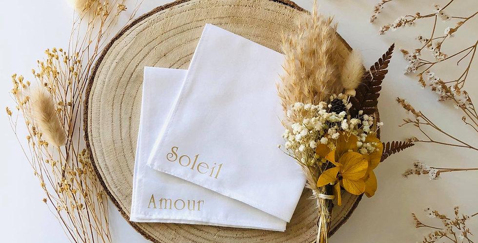 Mouchoir Soleil, Amour et Cie