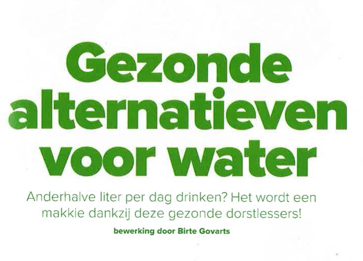 Gezonde alternatieven voor water