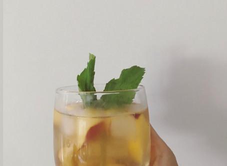 Minty Nectarine Iced Tea