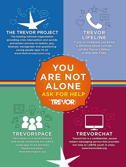 Trevor Project Flyer with Emergency Phon