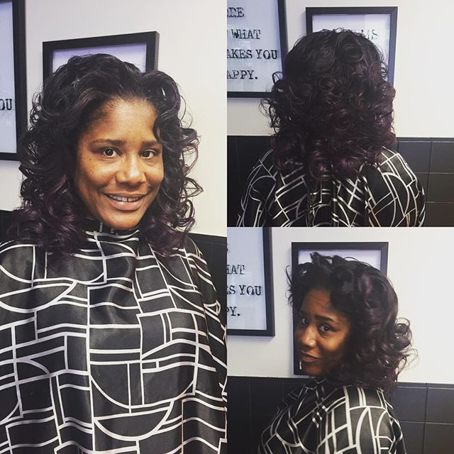 Full weave installment, sewn in with pur