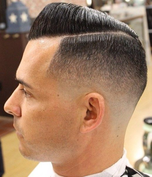 Sidepart-Slicked-Fade-Hairstyle