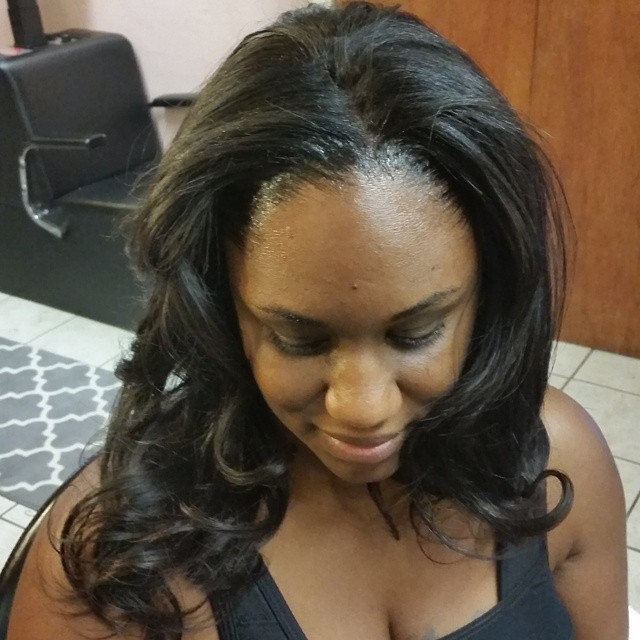 Full weave installment sewn in