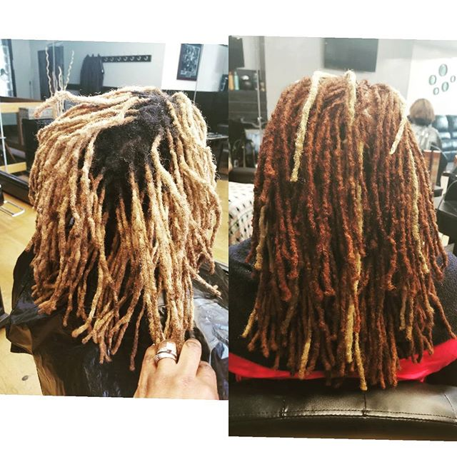 B4 & After Loc Retwist and Color