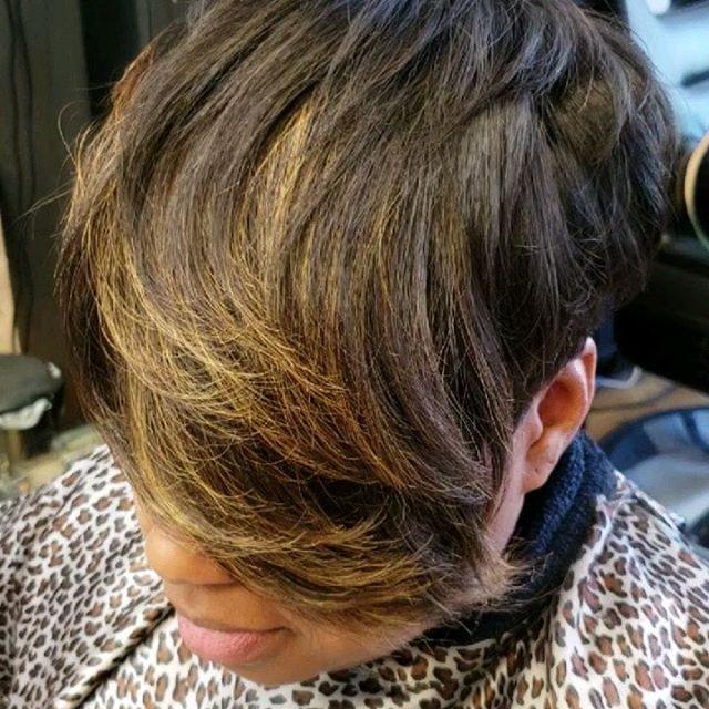 Silk Press on Natural hair, Cut and styl