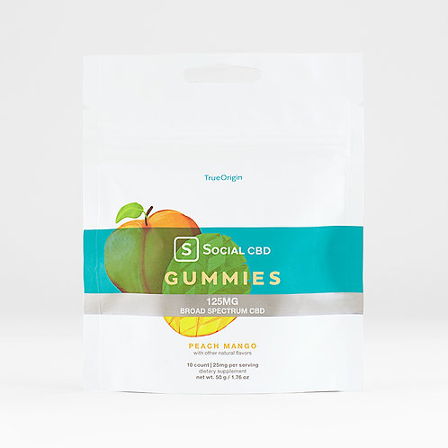 PEACH MANGO BROAD SPECTRUM CBD GUMMIES