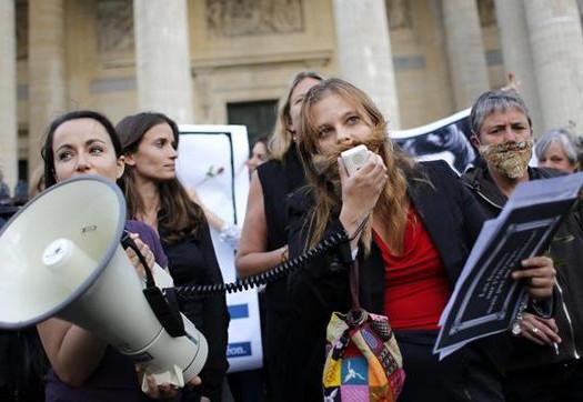 Feministas europeas se movilizan contra la ley del aborto de Gallardón