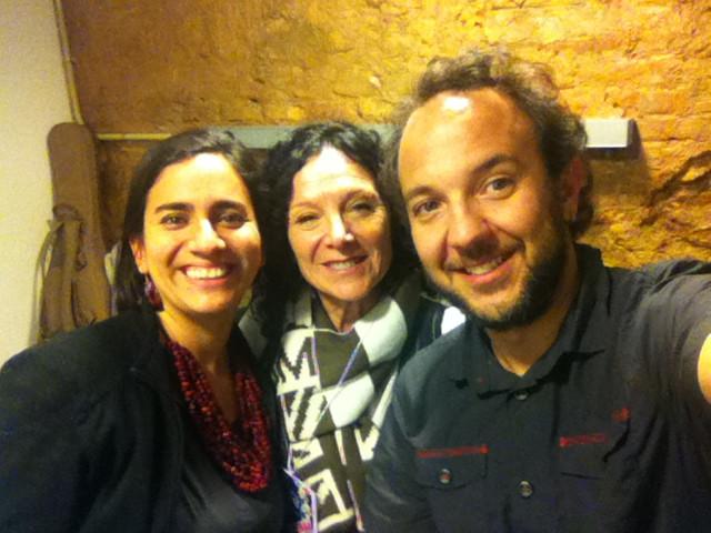 Con Marta Gómez y César López antes del concierto en Barcelona
