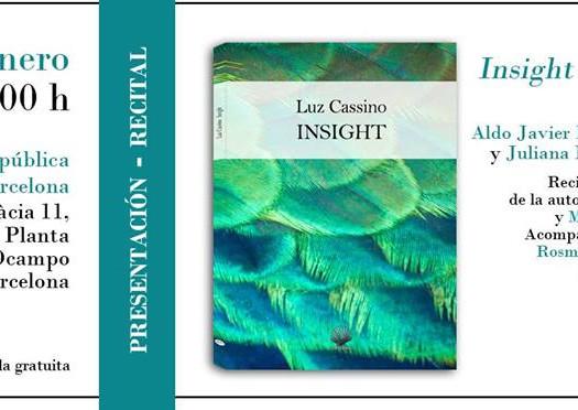 Nuestra compañera Luz Cassino presenta poemario en Barcelona
