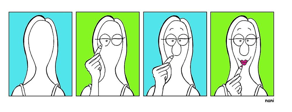 mujer se dibuja.jpg