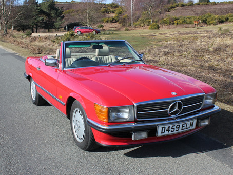 MERCEDES 300SL 1986 D REGISTRATION