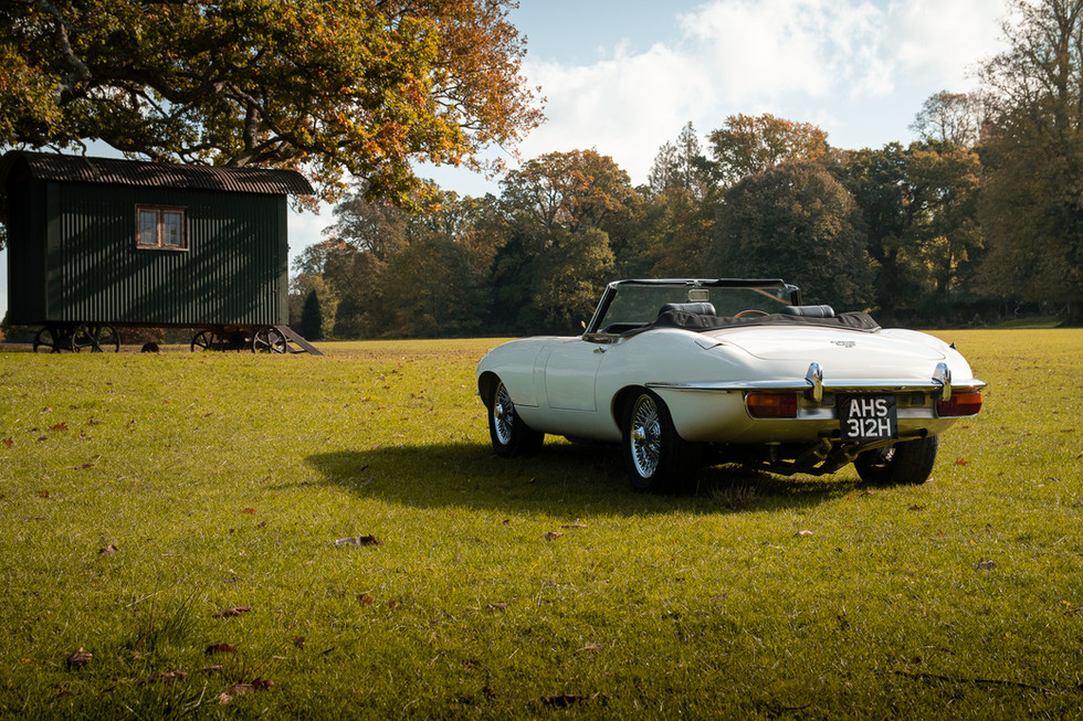 White Jaguar E-Type