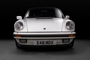 Porsche 911 White Front Dead Lights Off.