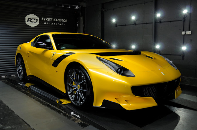 Ferrari F12 TDF Yellow