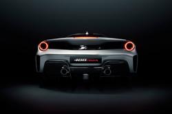 Ferrari Pista Silver Rear Plate