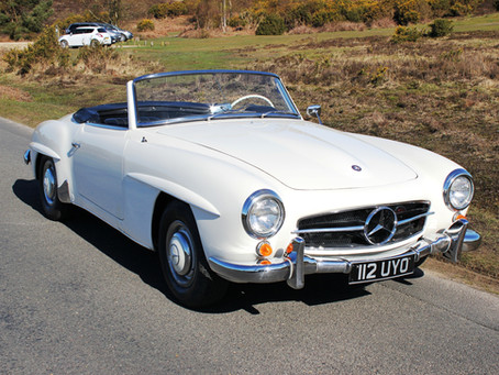 MERCEDES 190SL 1961 WITH HARD TOP