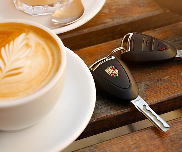 car keys and coffee