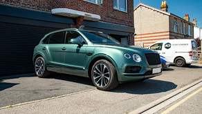 Bentley Bentayga, Mulliner Edition - Front end XPEL application and New Car Prep featuring Gtechniq