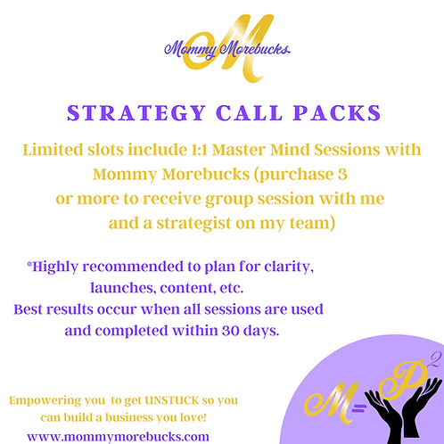 Strategy Call Packs (3 Calls or More)