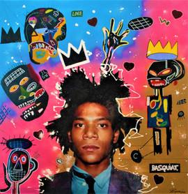 En l honneur de Basquiat 100x100cm.