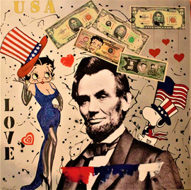 Betty love Lincoln 80x80cm.