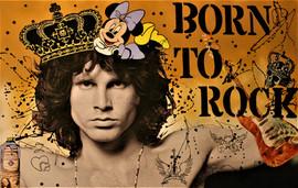 Born to rock 65x100cm.
