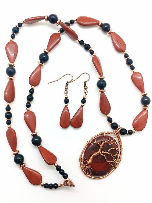 Red Jasper Tree Set