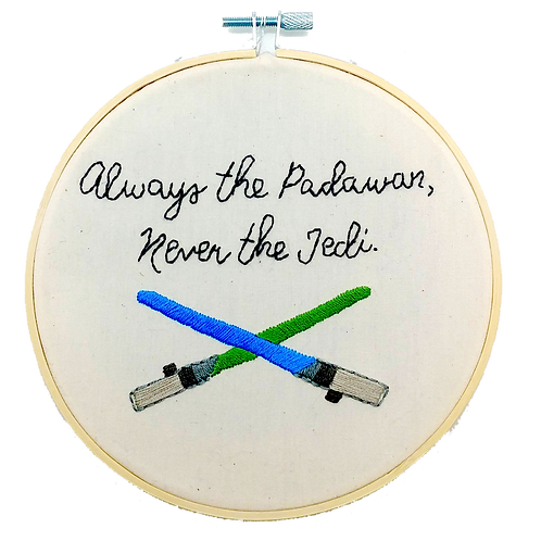 Jedi Embroidery Hoop