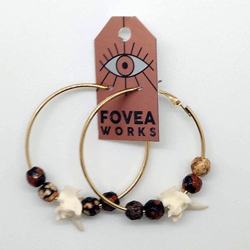 Fovea Works Rattlesnake Vertabrae Earrings