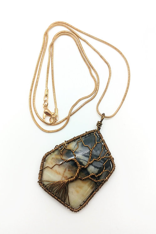 Stone Tree Necklace