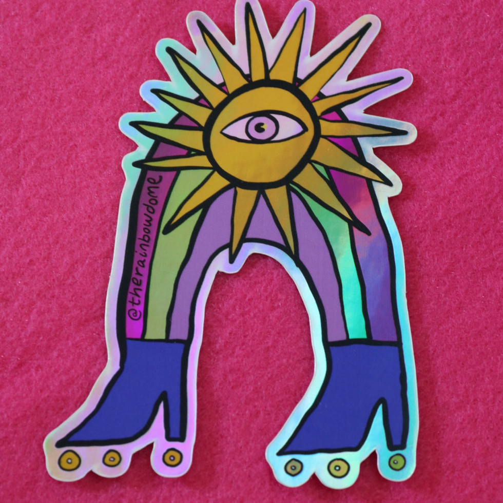 Sun Skater Sticker