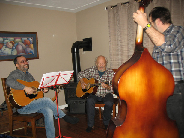 Peter, Dave Zub and David Essig jamming