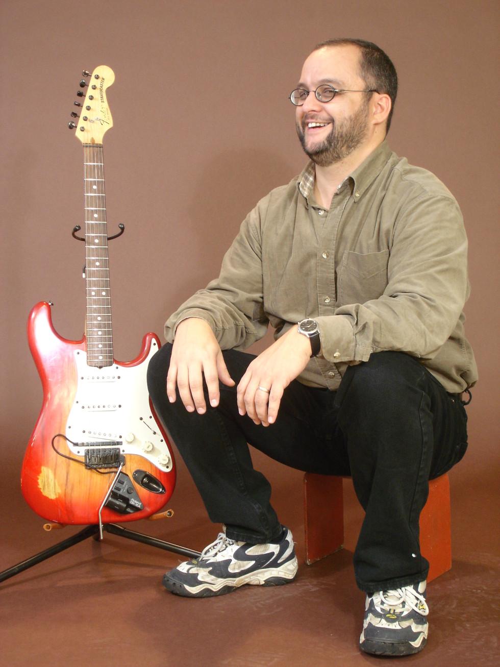 with my Stratocaster photo: David Wrigley