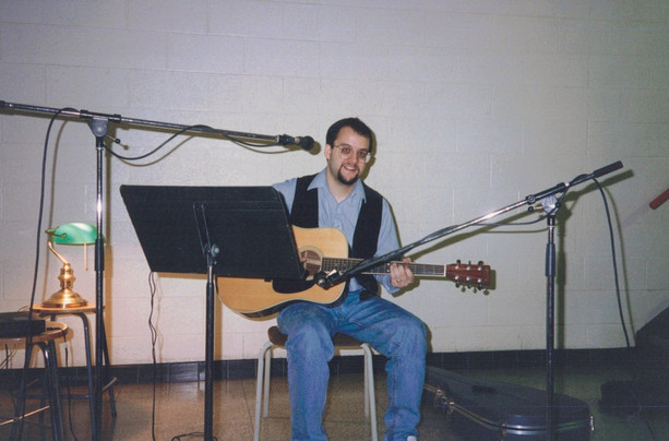 "Recording Right Now Is Forever unplugged  in ""The magic stairwell"", at the bottom of a three floor stairwell with gorgeous natural reverb in the high school where I taught. I would go in on weekends when the place was empty, set up two mics and get the natural sound of the space."