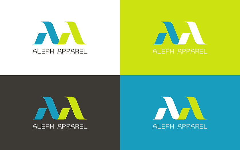 ADDLESS DESIGN STUDIO - ALEPH APPAREL logo color coding