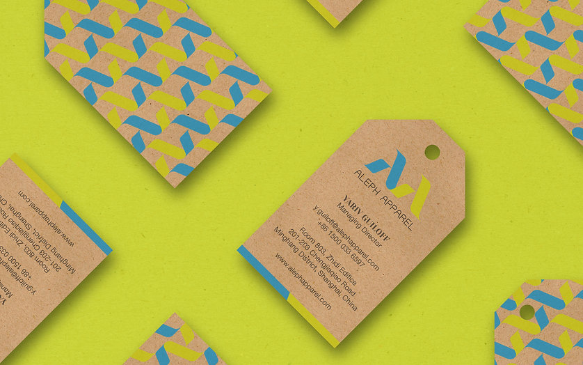 ADDLESS DESIGN STUDIO - ALEPH APPAREL business cards