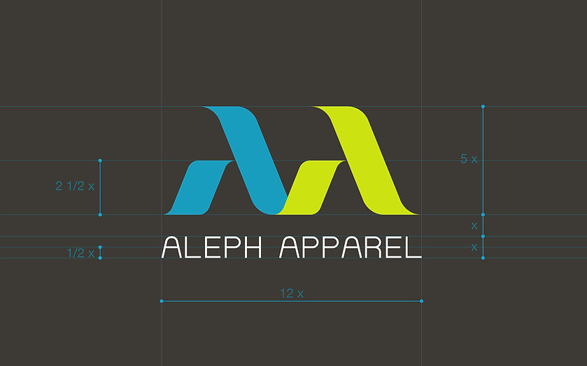 ADDLESS DESIGN STUDIO - ALEPH APPAREL logo proportion