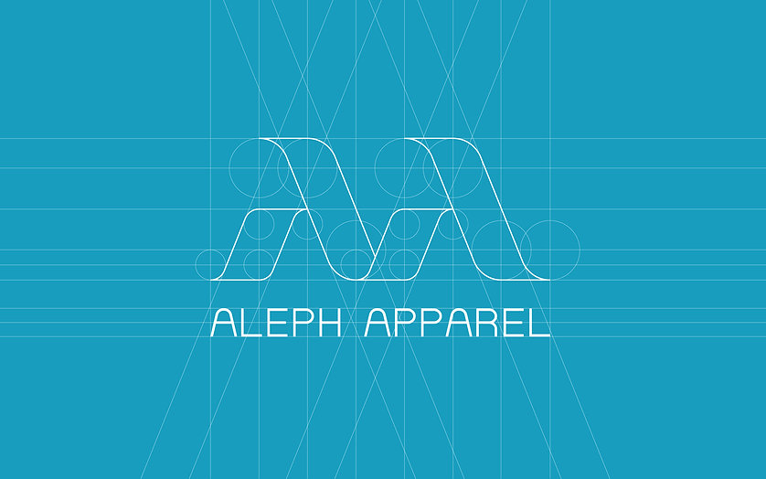 ADDLESS DESIGN STUDIO - ALEPH APPAREL logo construction