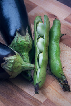 Broad Beans & Eggplants