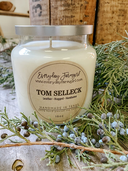 Tom Selleck Candle