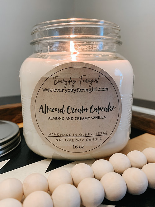 Almond Cream Cupcake