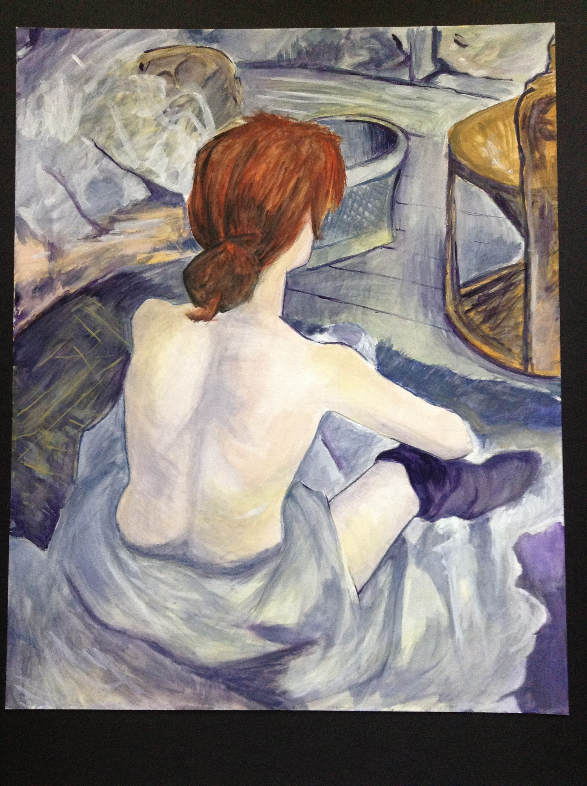 WatercolorCopy of a Toulouse Lautrec