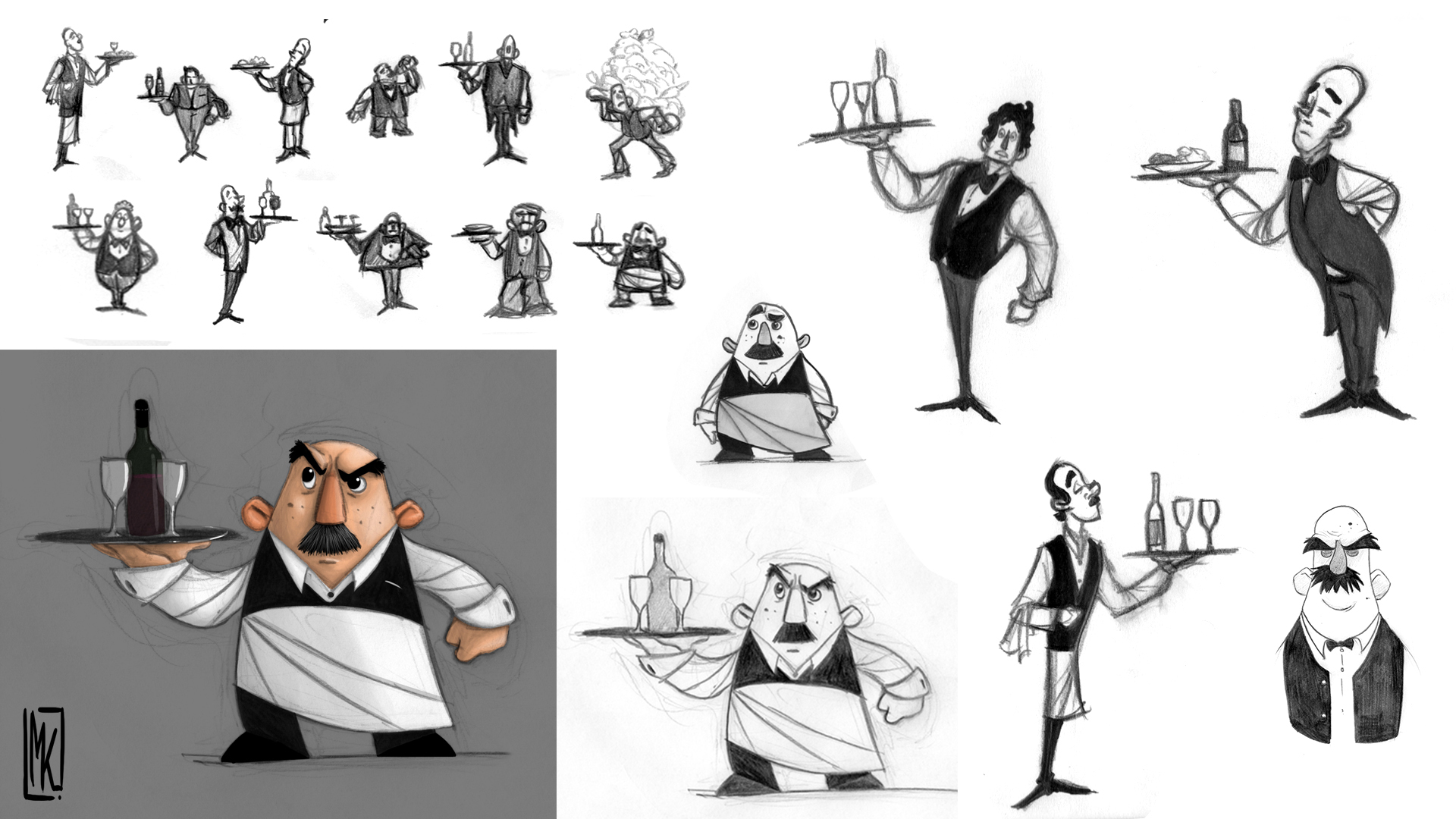 Character Design - Waiter