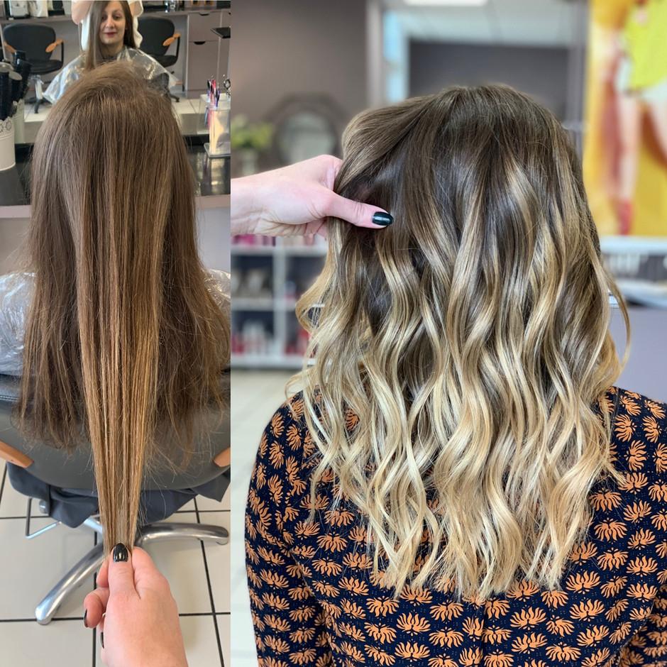 Avant/après blond beige 🤩