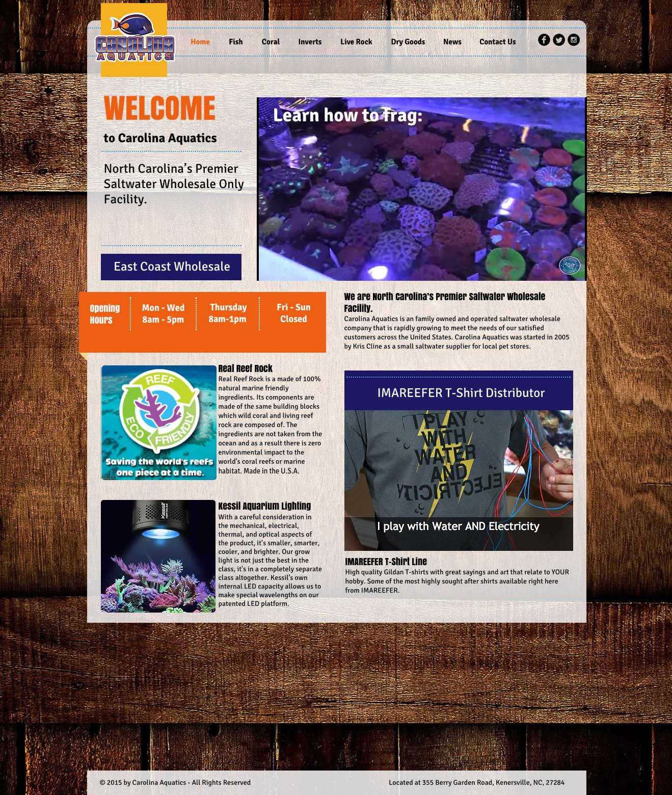 Carolina Aquatics Website