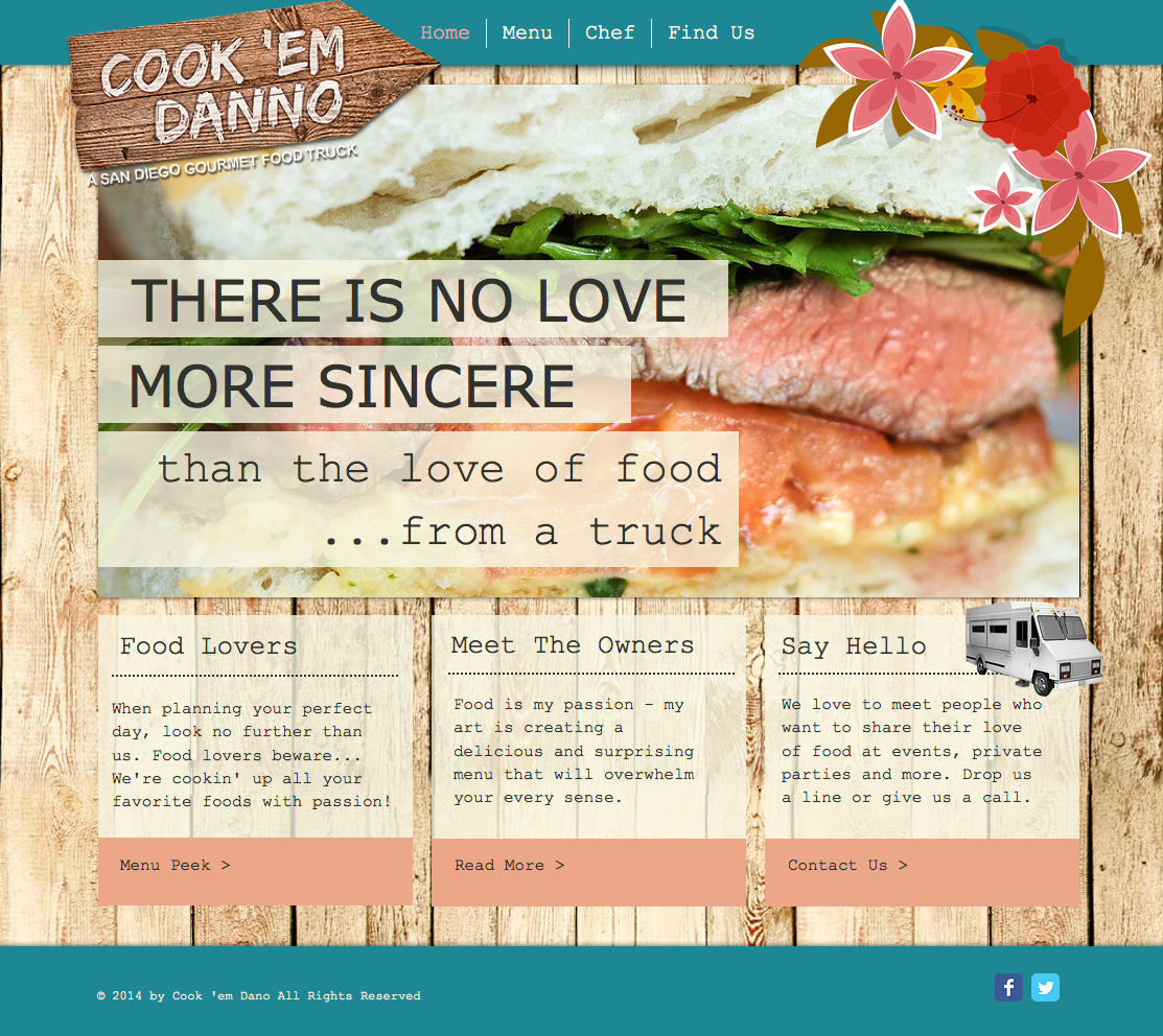 Cook 'em Danno Food Truck Website