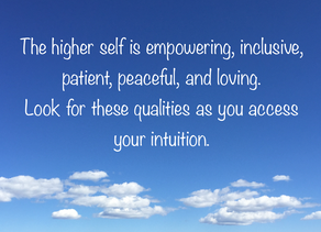 The Lowdown on Higher Self Intuitive Information