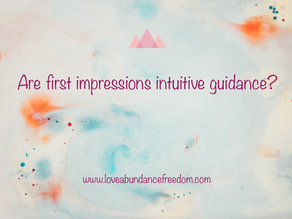 Can First Impressions be Intuitive Guidance?