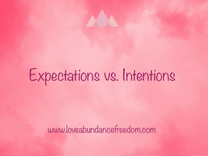 Expectations vs. Intentions